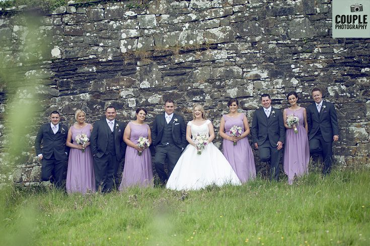 The bridal party. Weddings in Mayo, Photographed by Couple Photography.