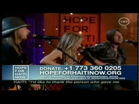 [Kid Rock, Sheryl Crow & Keith Urban] [2010 Hope For Haiti Now Telethon] Lean on Me