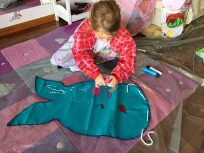 """Die Kleine wollte auch eine """"Under the See"""" Party, aber sie hatte genaue Vorstellungen wie das genau aussehen soll.   Es sollte eine Ariell..."""