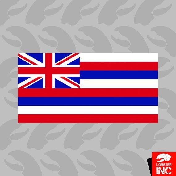 Hawaii Flag Sticker Self Adhesive Vinyl Hawaiian State The Etsy In 2020 Adhesive Vinyl Hawaii Flag Hawaiian Flag
