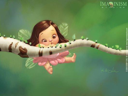Cartoons Wallpaper: Cute Fairy
