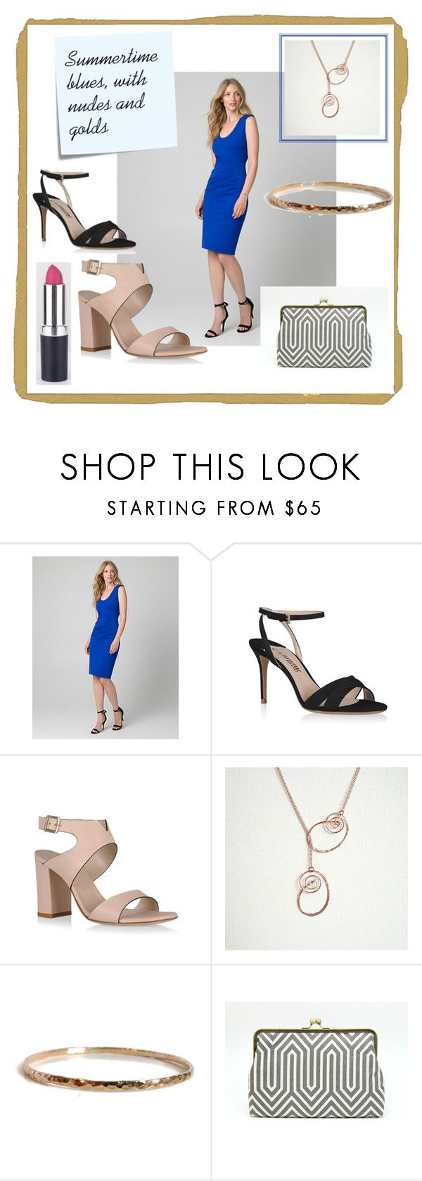 """Wedding Fashion: Summertime Blues"" by mapestomountains on Polyvore featuring Le Chateau, Post-It and Marni"
