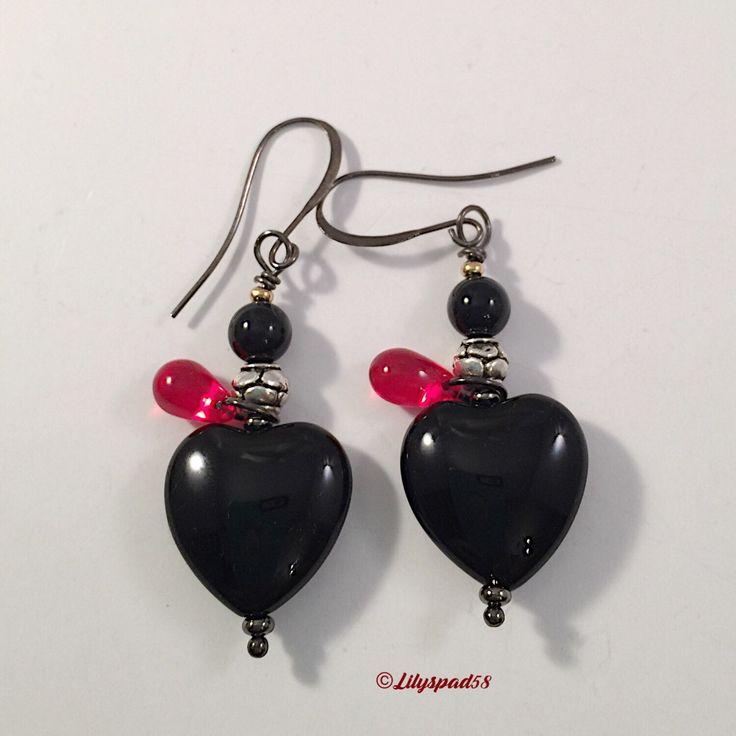 Beaded Earrings, Gift for Her, Dangle Earrings, Drop Earrings, Halloween, Gothic, Mardi Gras, Bohemian, Day of the Dead, Dia de lo Muertos