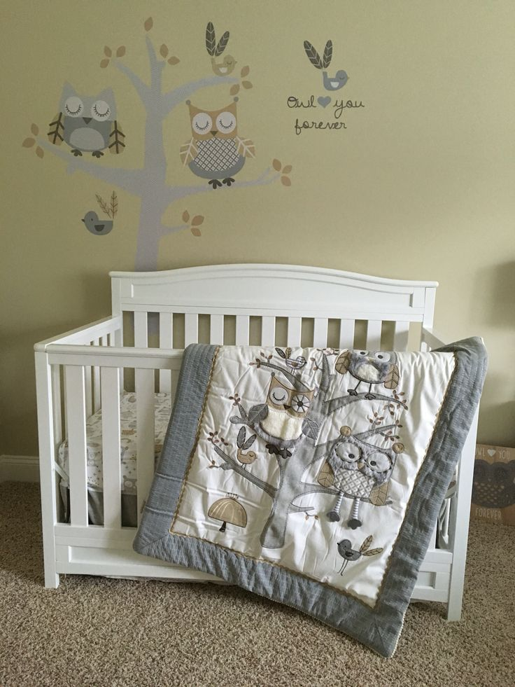 Levtex Baby Night Owl crib set. Avery's nursery❤️