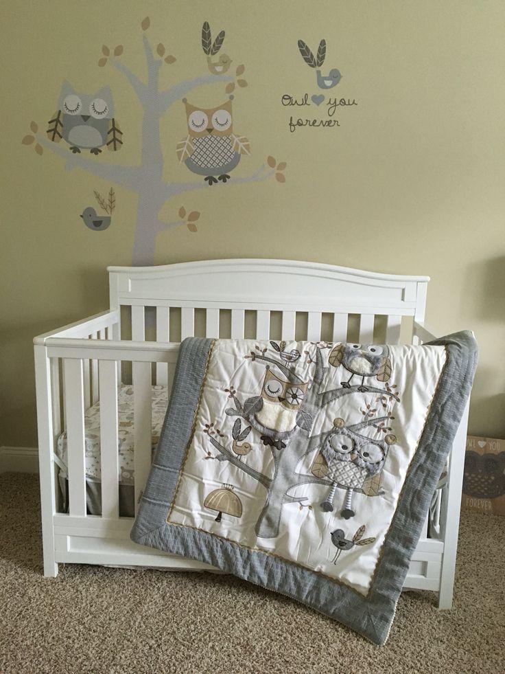 Levtex Baby Night Owl crib set. Avery's nursery❤️