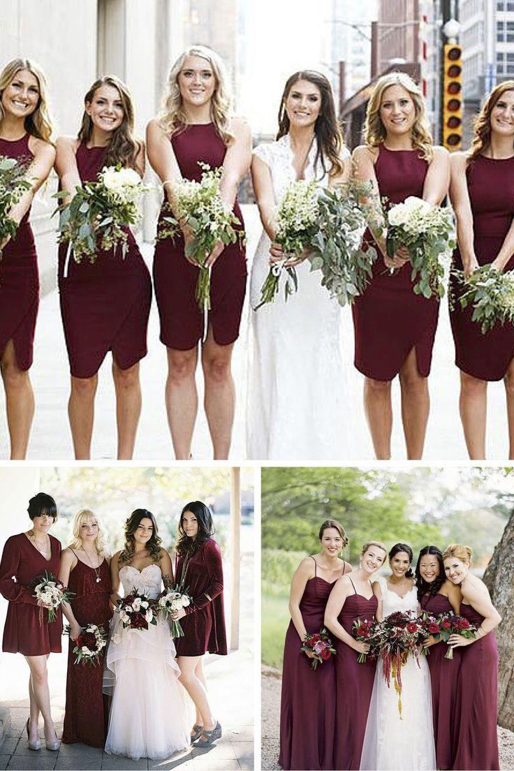 Inspirações com a cor marsala para deixar o seu casamento com um ar sofisticado em 2015! #marsala #casamento #noivinhasdeluxo #buque #bouquet #madrinhas