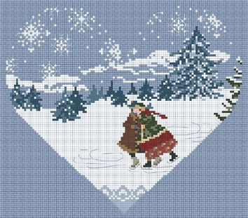 Heart of the Cold Lake - Coeur du Lac Gele – Cross Stitch Diva