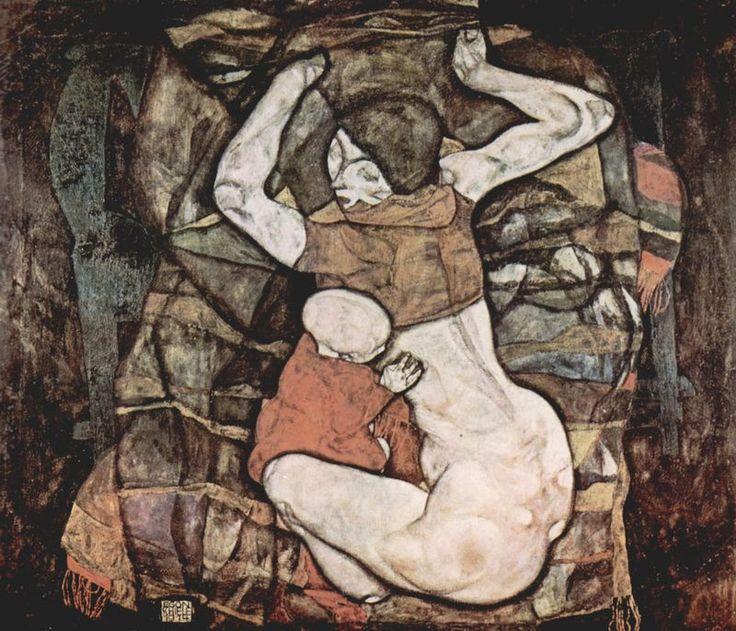 Schiele: Junge Mutter, 1914