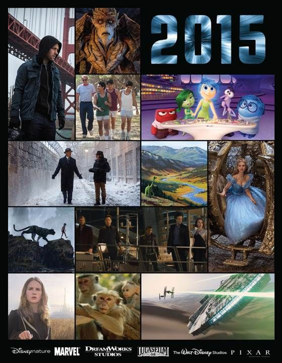 Looking Forward to 2015 Walt Disney Studio Motion Pictures with something for pretty much everyone.  #Disney #movies