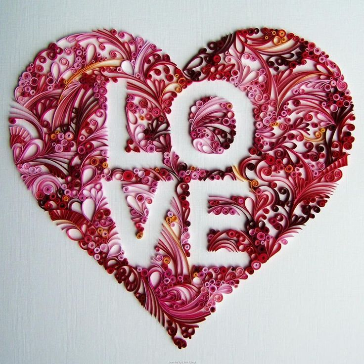 36 best Quilled hearts images on Pinterest | Paper quilling ...