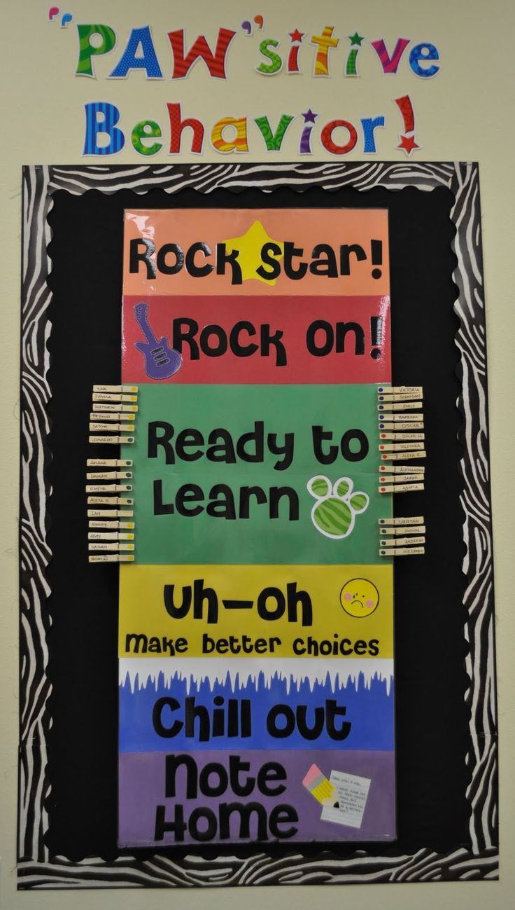 I think that this would be something that would be really effective to have on the wall. If a student misbehaves he/she has to move there clothespin down and if he/she does something good they move their pin up. I like that it is not just for recognizing bad behavior but also good behavior.