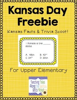18 multiple choice questions cards perfect for Kansas Day or any of your Kansas units! A recording sheet and key are included, as well as other ideas for use.