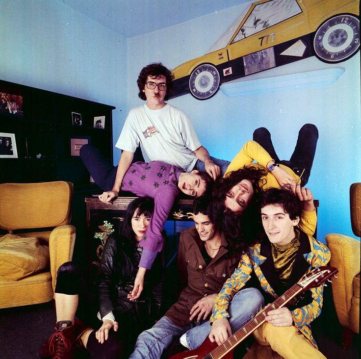 Charly García and his band. Buenos Aires. 1990.