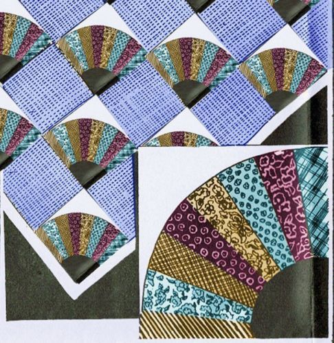 Quilt Pattern For Grandmother S Fan : 1930s Mail Order Grandmother s Fan Uncut Original Quilt Pattern eBay Quilting Pinterest ...