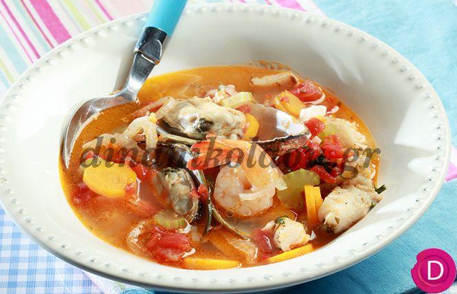 Ψάρια στην κατσαρόλα με στιλ μεσογειακό   Dina Nikolaou