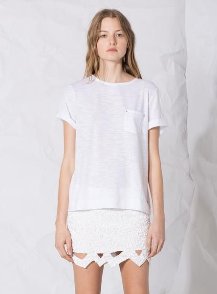 Simple Tee in White