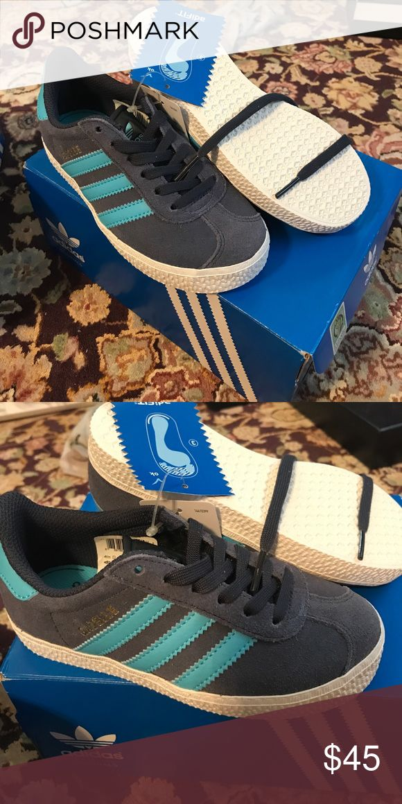 NWT kids Adidas Gazelle Lace up great sneakers. adidas Shoes Sneakers