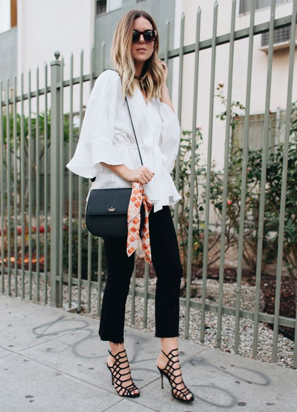 how to wear a handkerchief with @michelletakeaim and the kate spade new york cameron street byrdie bag.