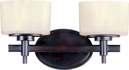 Maxim Lighting 9022DWOI Lola 2-Light ADA Compliant Bath Vanity, Oil Rubbed Bronze Finish with Dusty White Glass by Maxim Lighting. $89.21. Maxim 9022DWOI Lola 2-Light Bath Vanity The soft round curves of this design are evident in every detail. The use of xenon allows for a profile that is delicate in scale. The Lola collection is available in Polished Nickel finish with Satin White glass or Oil Rubbed Bronze finish with Dusty White glass.. Save 46% Off!