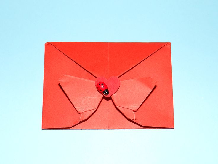 how to make an origami heart envelope