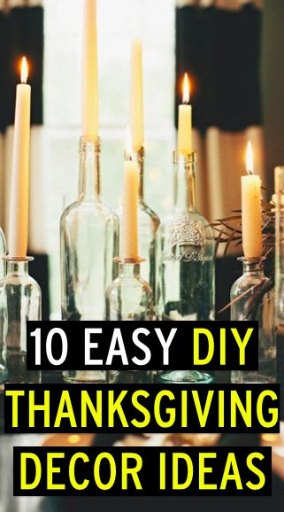 DIY decor to make your Thanksgiving table look awesome