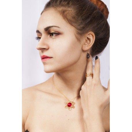 Кулон и кольцо в славянском стиле женский подарок 14 февраля