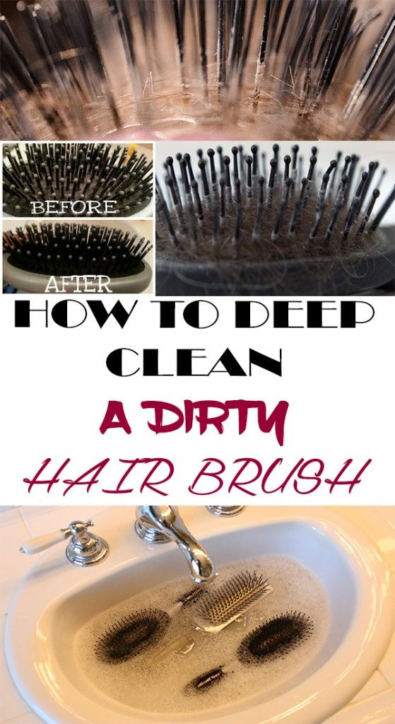 How to deep clean a dirty hair brush
