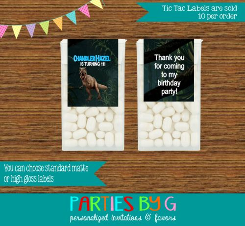 1000+ images about Personalized Tic Tac Mints Birthday ...