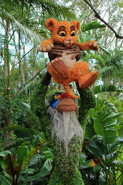Lion King Simba Disney Topiary Epcot