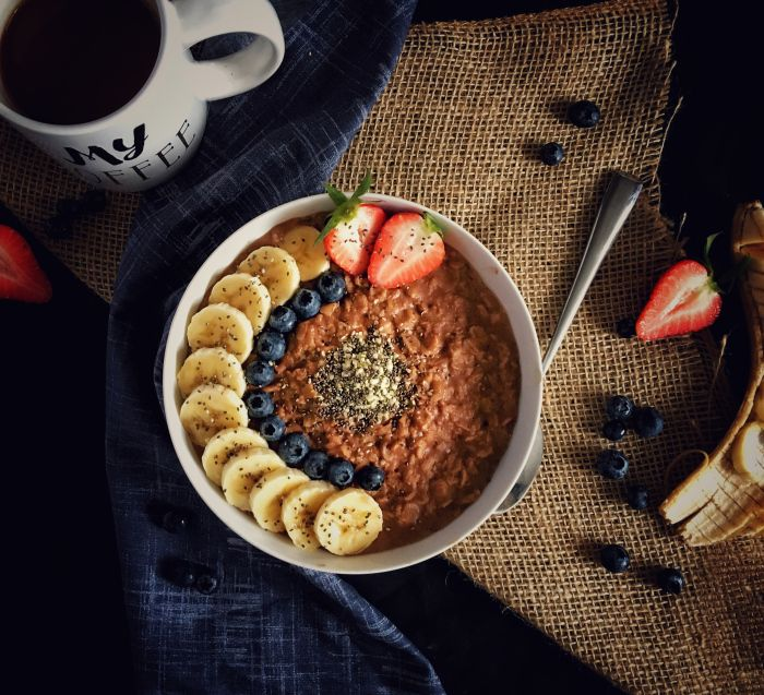 #Vegan PB Chocolate Oatmeal!!