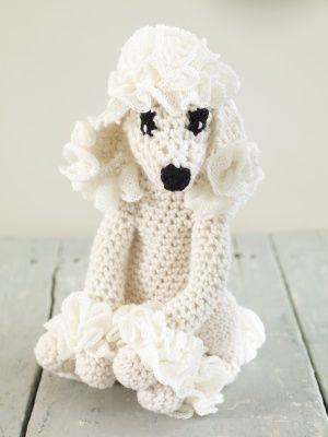 Poodle PrincessPoodles Cor-De-Rosa, Crochet Toys, Poodles Princesses, Free Pattern, Lion Brand Yarns, Princesses Toys, Amigurumi Pattern, Stuffed Animal, Crochet Pattern