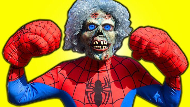 Spiderman vs Zombie in Real Life Spiderman Zombie, T Rex & Joker - Amazi...