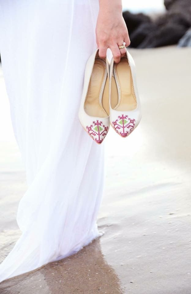 White leather high heels, making us dream of summer. #iuttafootwear