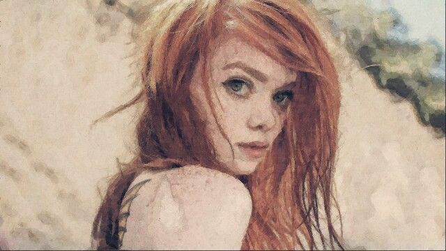 Red head painting