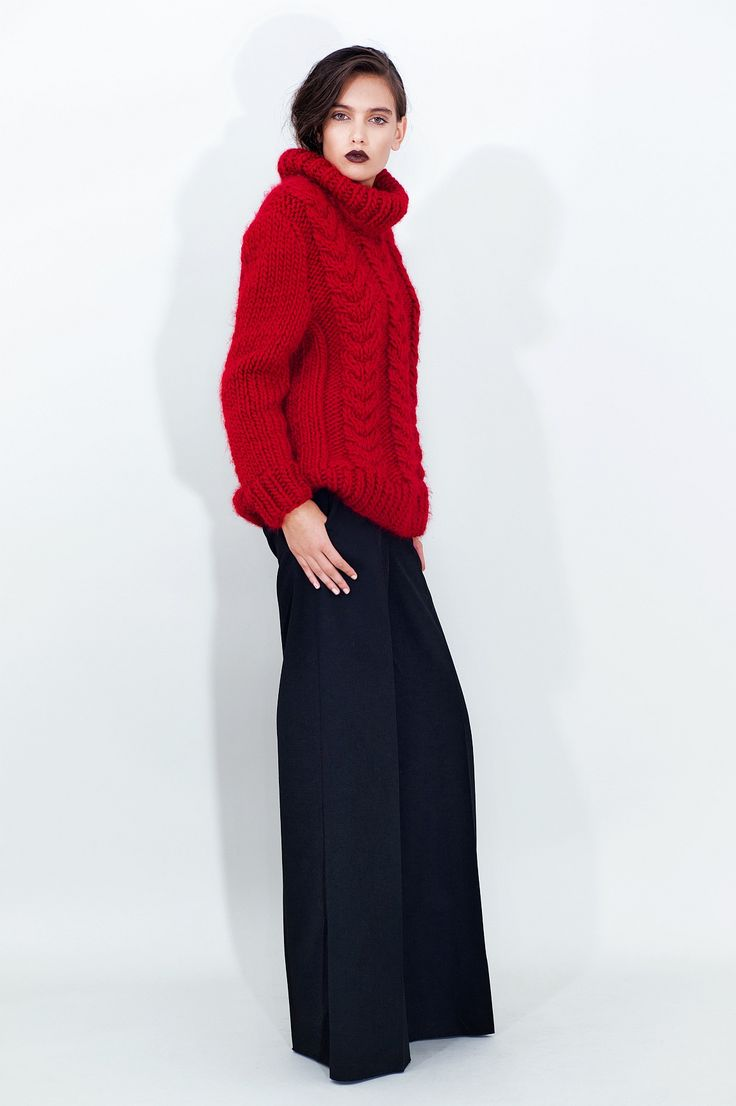 Cable Knit Wool Sweater - chemistry