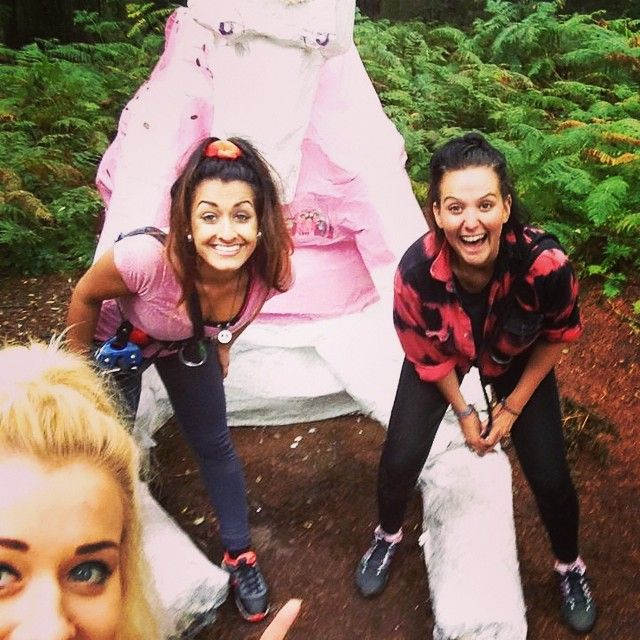This has to be one of the best #pinksheep selfies - at Go Ape! Dalby Forest