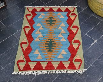 FREE SHIPPING Handwoven Turkish Kilim Rug, 2.1 x 3 Decorative Kilim Rug, Bohemian Kilim Rug, Pastel Color, Aztec Kilim, Vintage Kilim No 765 -    Edit Listing  - Etsy
