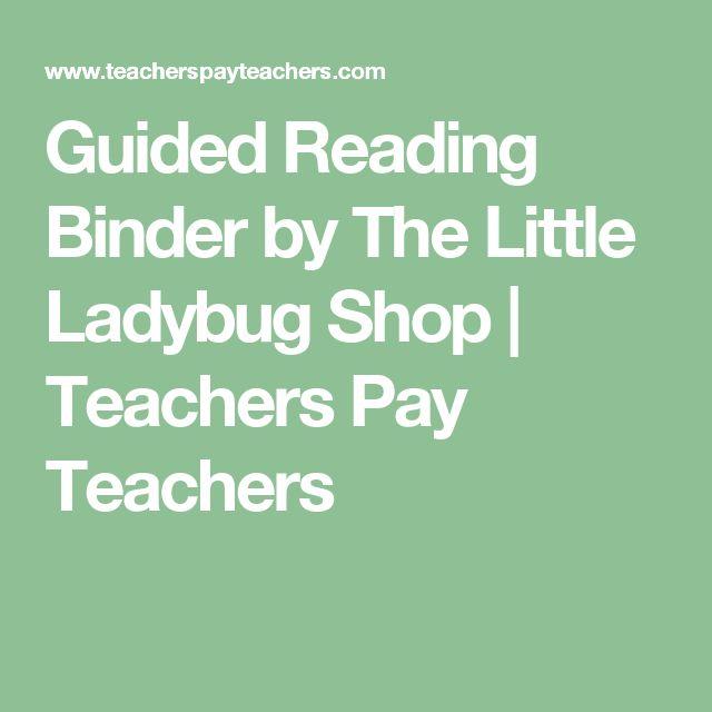 Guided Reading Binder by The Little Ladybug Shop   Teachers Pay Teachers