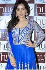 Festival Designer Royal Blue Satin Anarkali Dresses, Dress