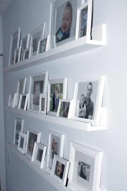 Gallery Wall Shelves Completed