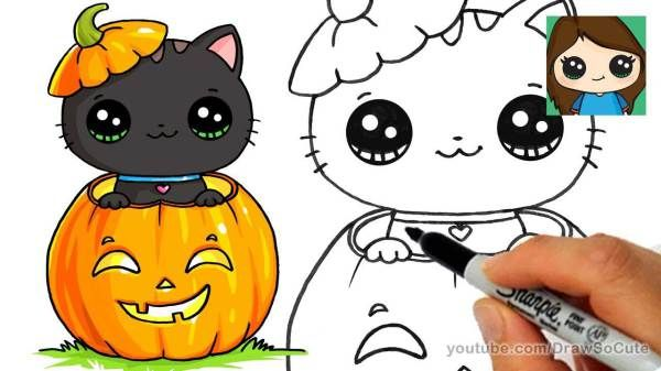 20 Diy Draw So Cute Halloween Things On Paper Cute Halloween Drawings Disney Drawings Kawaii Drawings Cute Winnie The Pooh