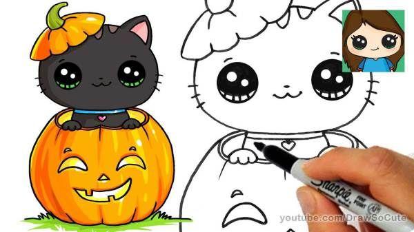20 Diy Draw So Cute Halloween Things On Paper Cute Halloween