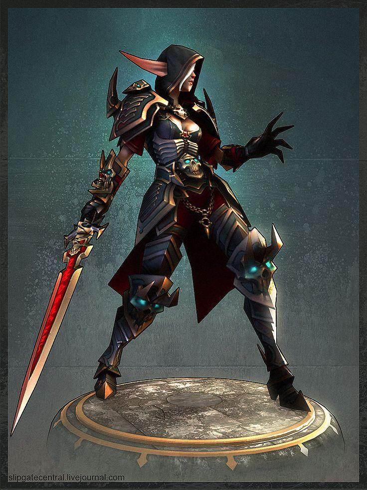 Blood Elf Death Knight by ~slipgatecentral on deviantART