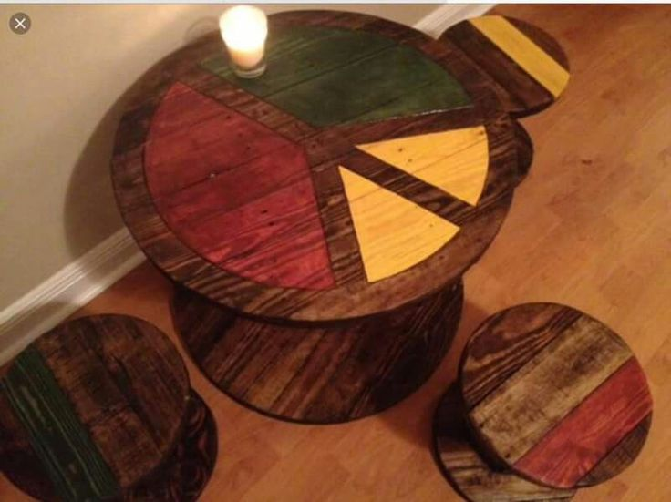 ☮ American Hippie Bohéme Boho Lifestyle ☮ Peace Sign Table