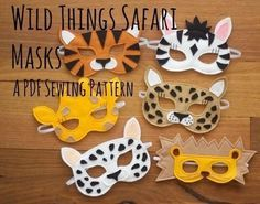 These beautiful and simple felt masks will inspire hours of imaginative play in the lucky recipients. Masks are quick and easy to make and make a wonderful gift for little ones which parents are sure to love too!  Patterns include full templates and simple, illustrated, step by step instructions to make your own Tiger, Lion, Leopard, Snow Leopard, Giraffe and Zebra Masks with this Wild Things Safari Mask PDF Sewing Pattern.   Suitable for beginners.  BONUS: Also included are printable…