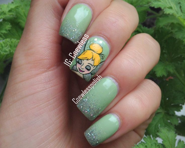 157 best nail designs images on pinterest american french tinkerbell nails tinkerbell nails prinsesfo Gallery