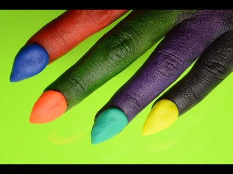 DIY Play Doh Nails! (Washable Markers) - Witch Hand - YouTube
