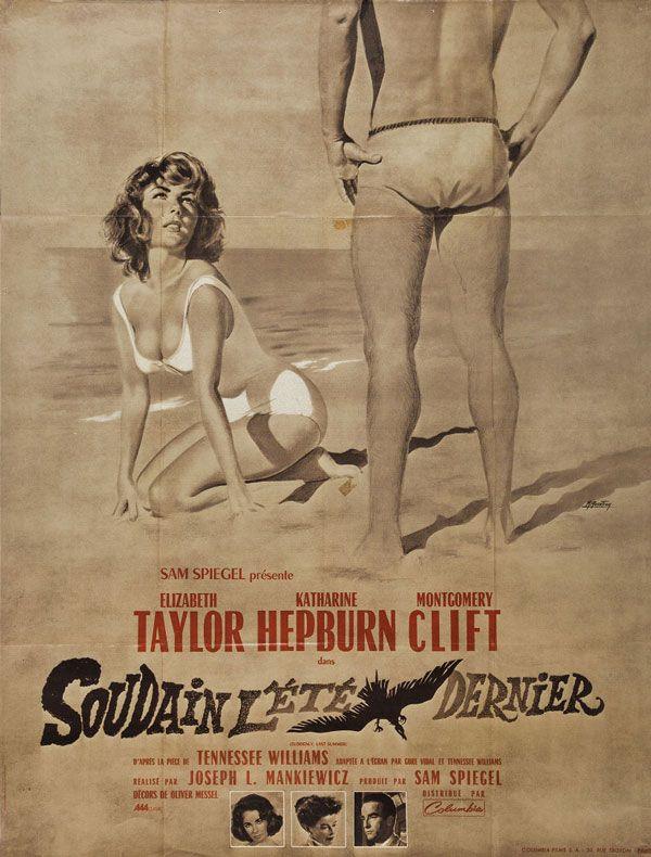 French grande by Bourdon for Suddenly, Last Summer (Joseph L. Mankiewicz, USA, 1959).