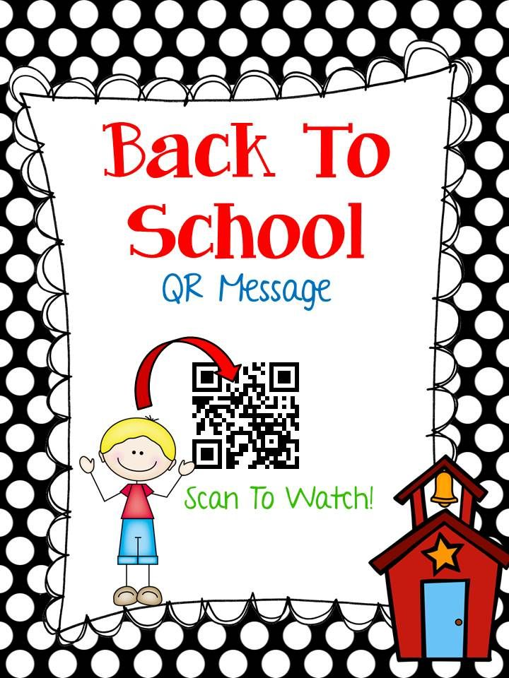 FREE Back To School QR handout for students and parents. Inspired by ...