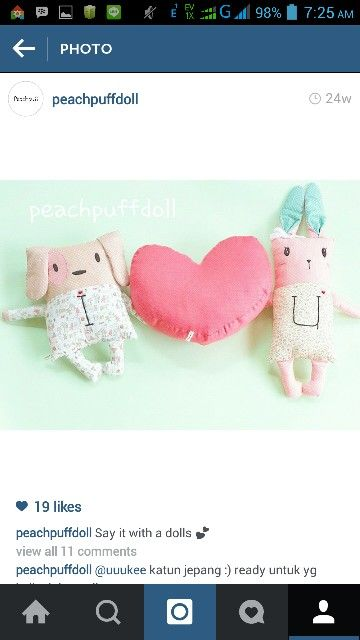 Cute doll, baby pillow, bedding sets, goodie bags, doll key chain and more at @peachpuffdoll on instagram ❤